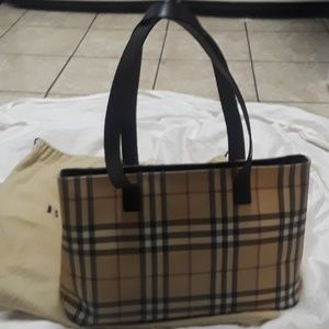 Authentic Burberry Nova check tote bag